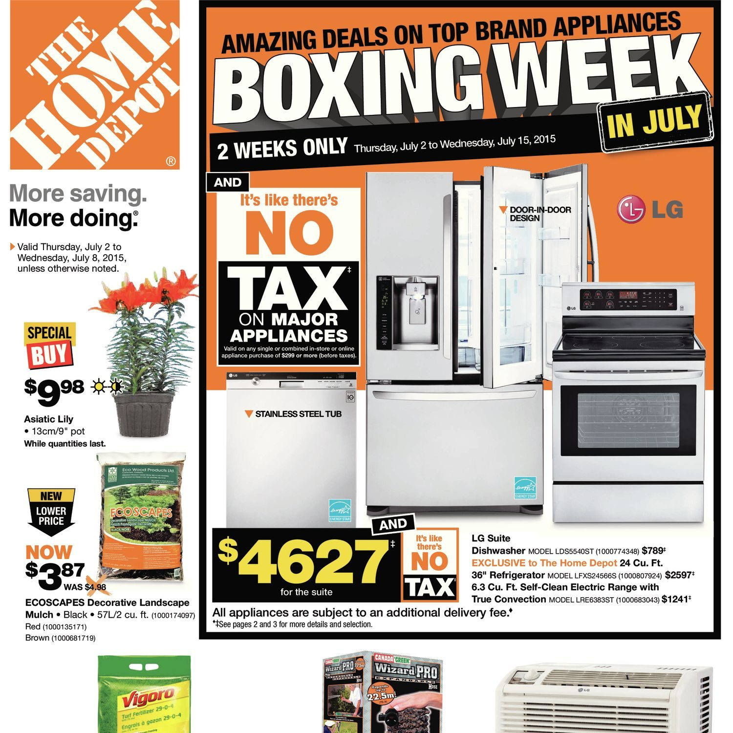 6d6273fcf2 Home Depot Weekly Flyer - Weekly - Boxing Week in July - Jul 2 – 8 -  RedFlagDeals.com