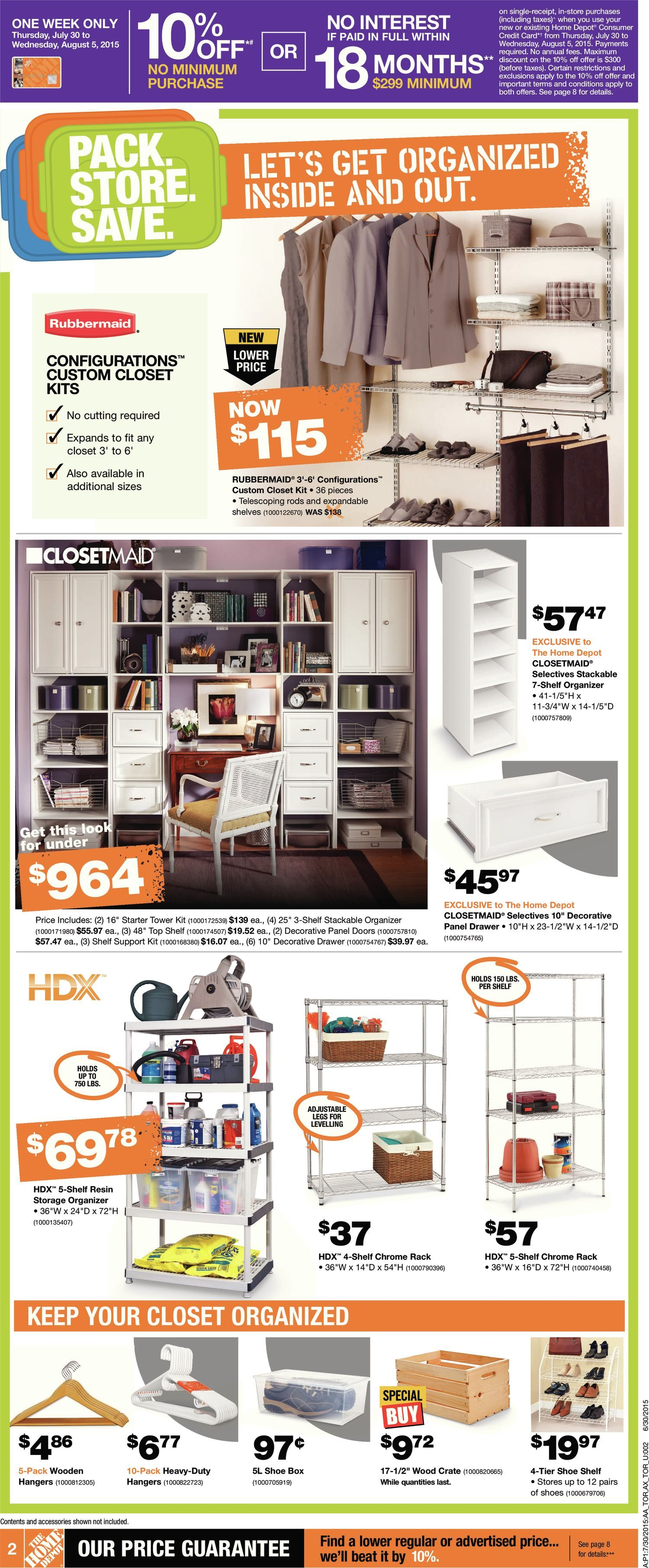 Home Depot Weekly Flyer Weekly Long Weekend Big Savings Event