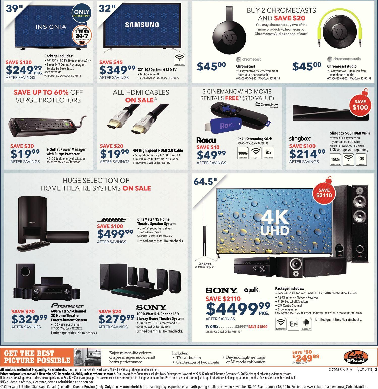 Best Buy Weekly Flyer - Weekly - Black Friday Sale - Nov 27