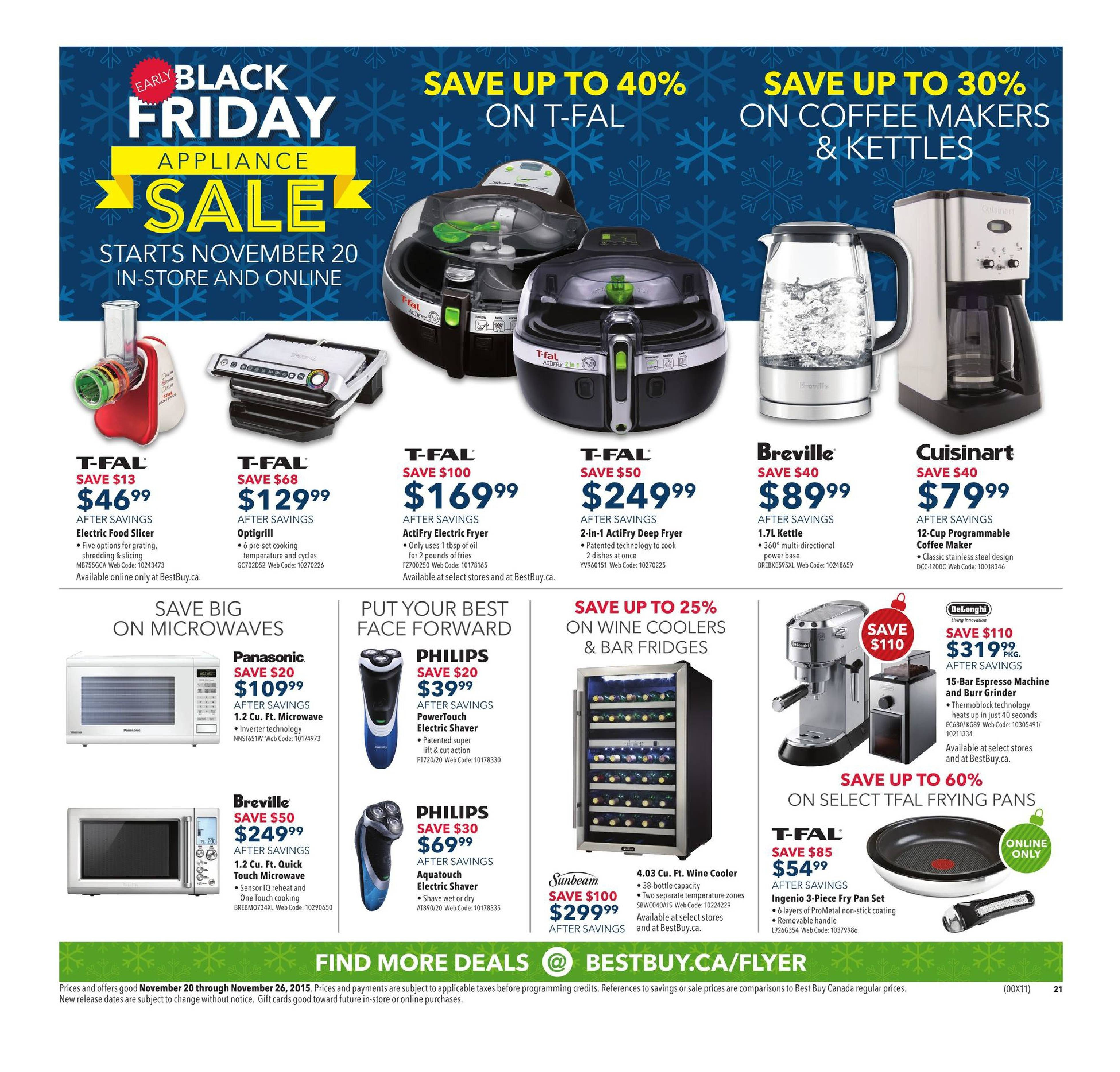 best buy weekly flyer weekly early black friday appliance sale rh redflagdeals com