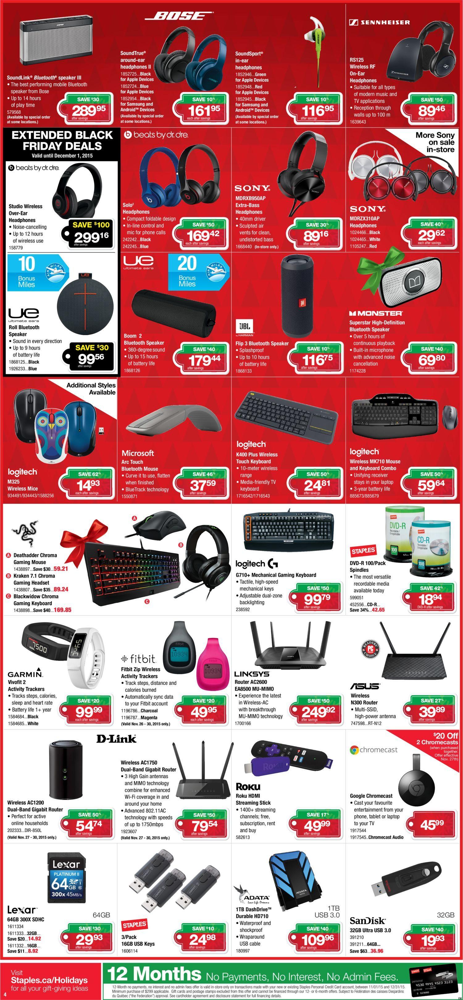 Staples Weekly Flyer Surprise Its Nov 25 Logitech Wireless Mouse M325 Circuit Board 910 002416 Dec 1
