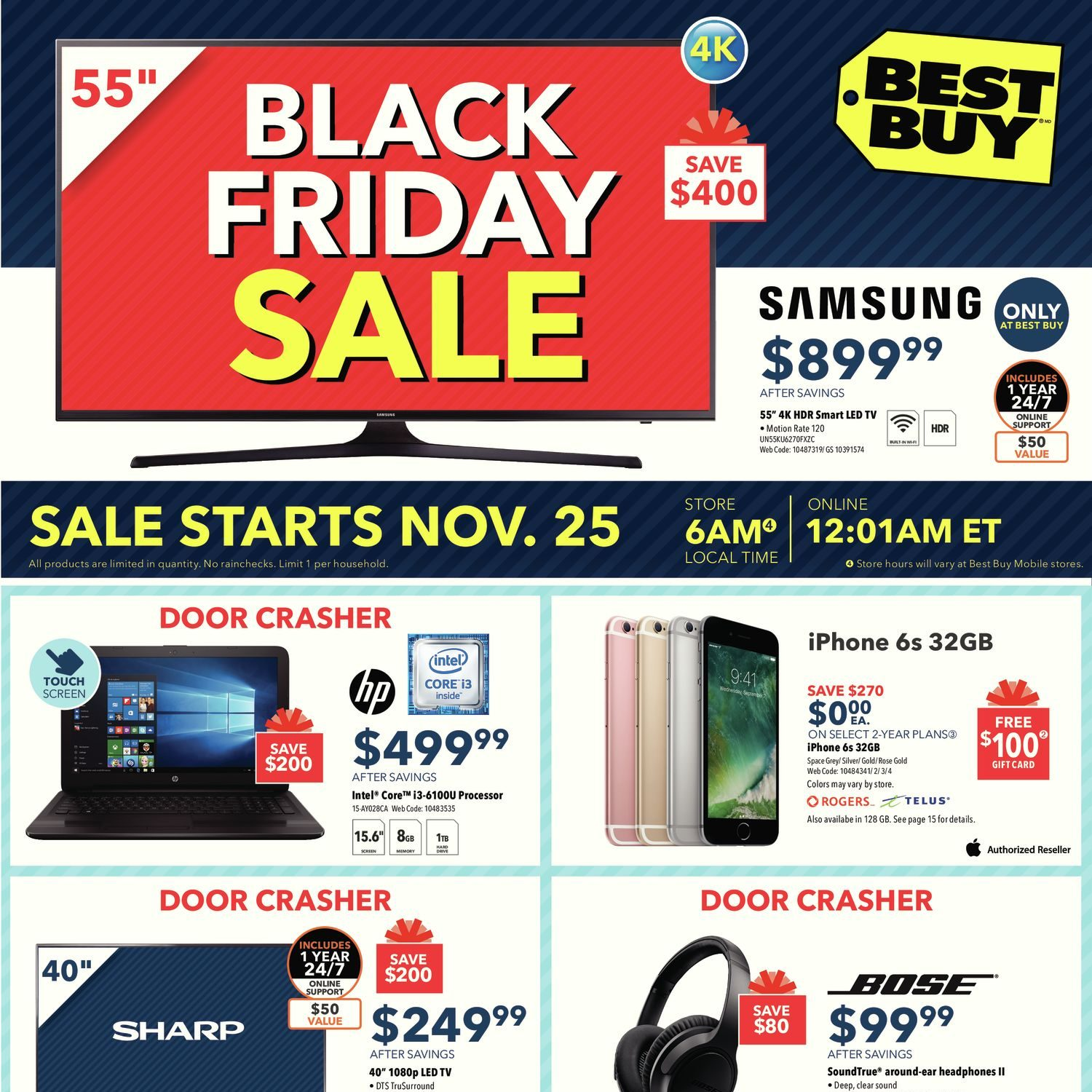 Best Buy Weekly Flyer - Weekly - Black Friday Sale - Nov 25