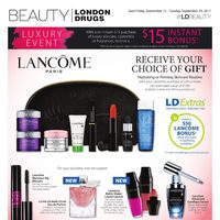 London Drugs - Beauty - Luxury Event Flyer
