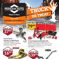 Princess Auto - Truck or Treat Flyer