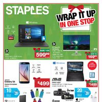Staples - Gift Guide - Wrap It Up In One Stop Flyer