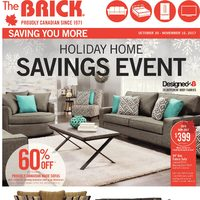 The Brick - Holiday Home Savings Event Flyer