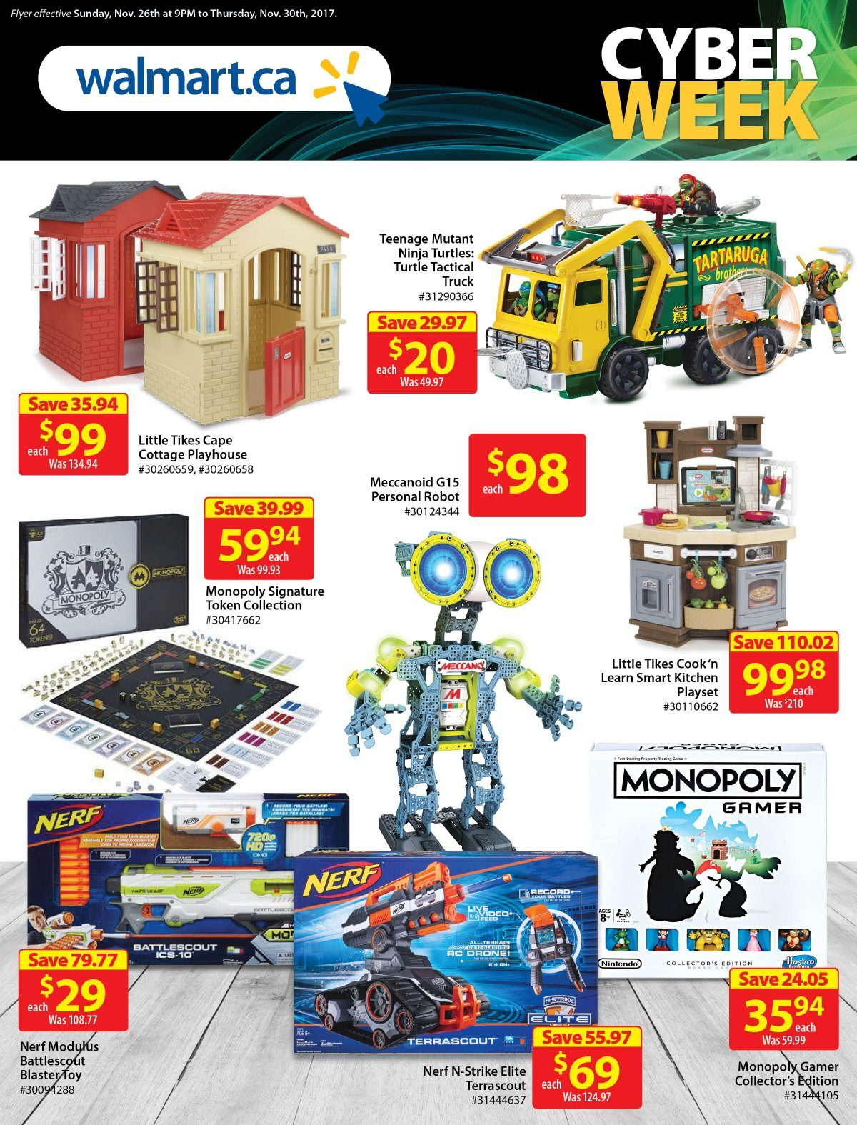 Walmart Weekly Flyer - Cyber Monday & Cyber Week - Nov 26