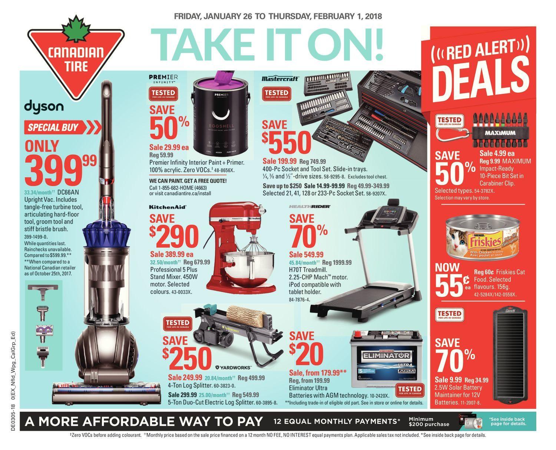 Canadian Tire Weekly Flyer - Weekly - Take It On! - Jan 26 – Feb 1 ...