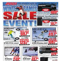 2001 Audio Video - Weekly - Winter Games Sale Event! Flyer