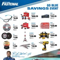 Fastenal - Go Blue Savings Event Flyer