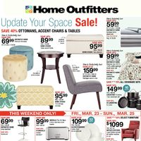 Home Outfitters - Weekly - Update Your Space Sale! Flyer