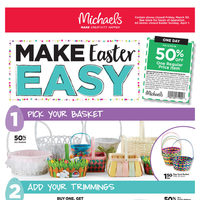 Michaels - Weekly - Make Easter Easy Flyer
