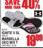 Under Armour Boys Ignite V Slide/Girls Marbella Geo Mix T