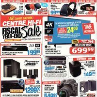 Centre HIFI - Weekly - Fiscal Year-End Sale Flyer