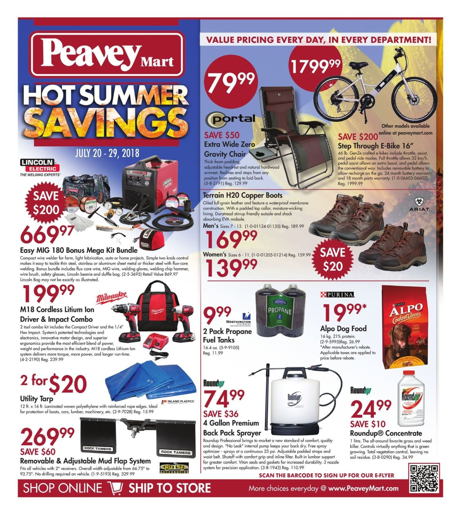 PeaveyMart Weekly Flyer - Hot Summer Savings - Jul 20 – 29