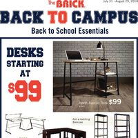 The Brick - Back To Campus - Back to School Essentials Flyer