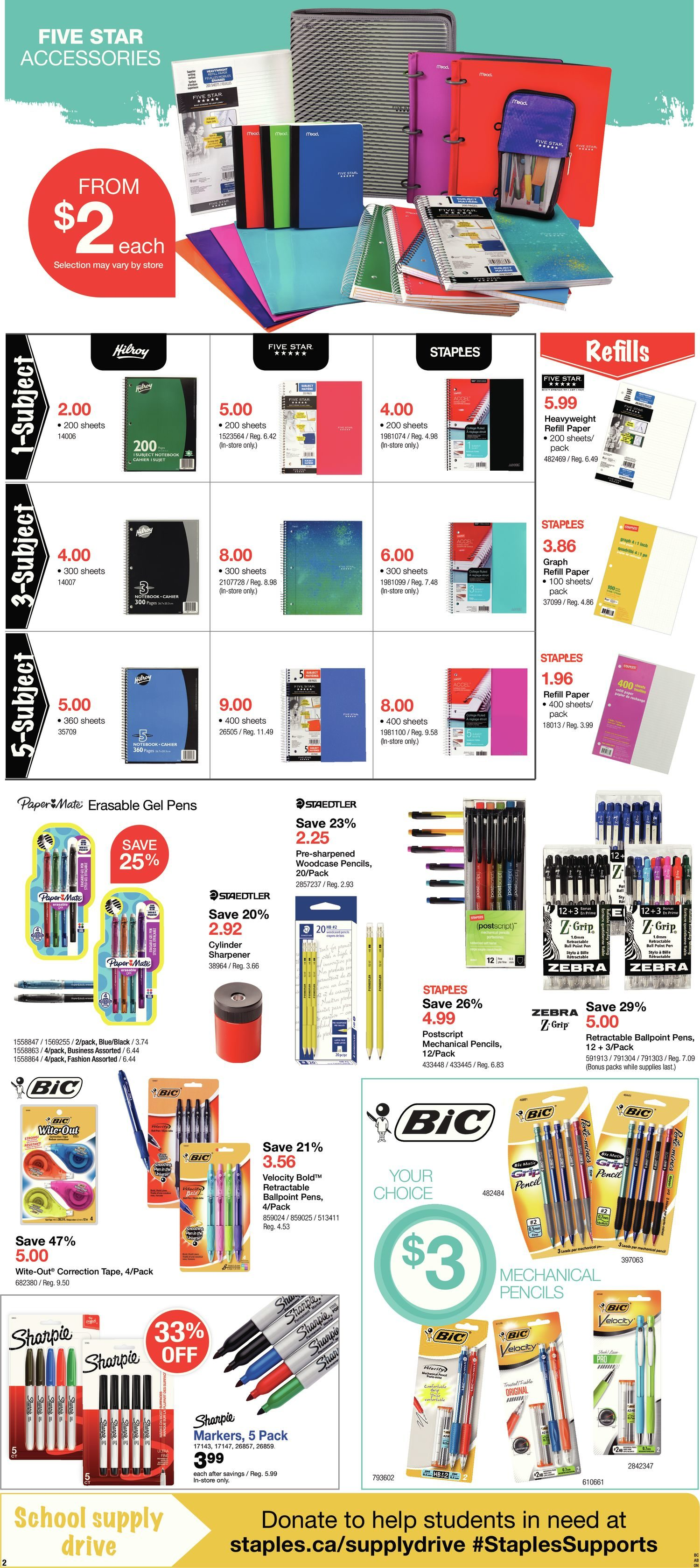 Staples Weekly Flyer Weekly Back To School Aug 29 Sep 4