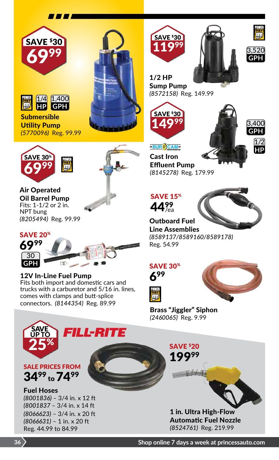 Princess Auto Weekly Flyer September Start Up Sale Sep 4 16 Utilitech 3 Wire 10gpm 1 2 Hp Submersible Well Pump And Control Box