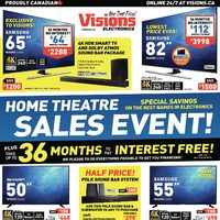 Visions Electronics - Weekly - Home Theatre Sales Event! Flyer