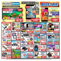 Factory Direct - Weekly - Mega Sale! Flyer