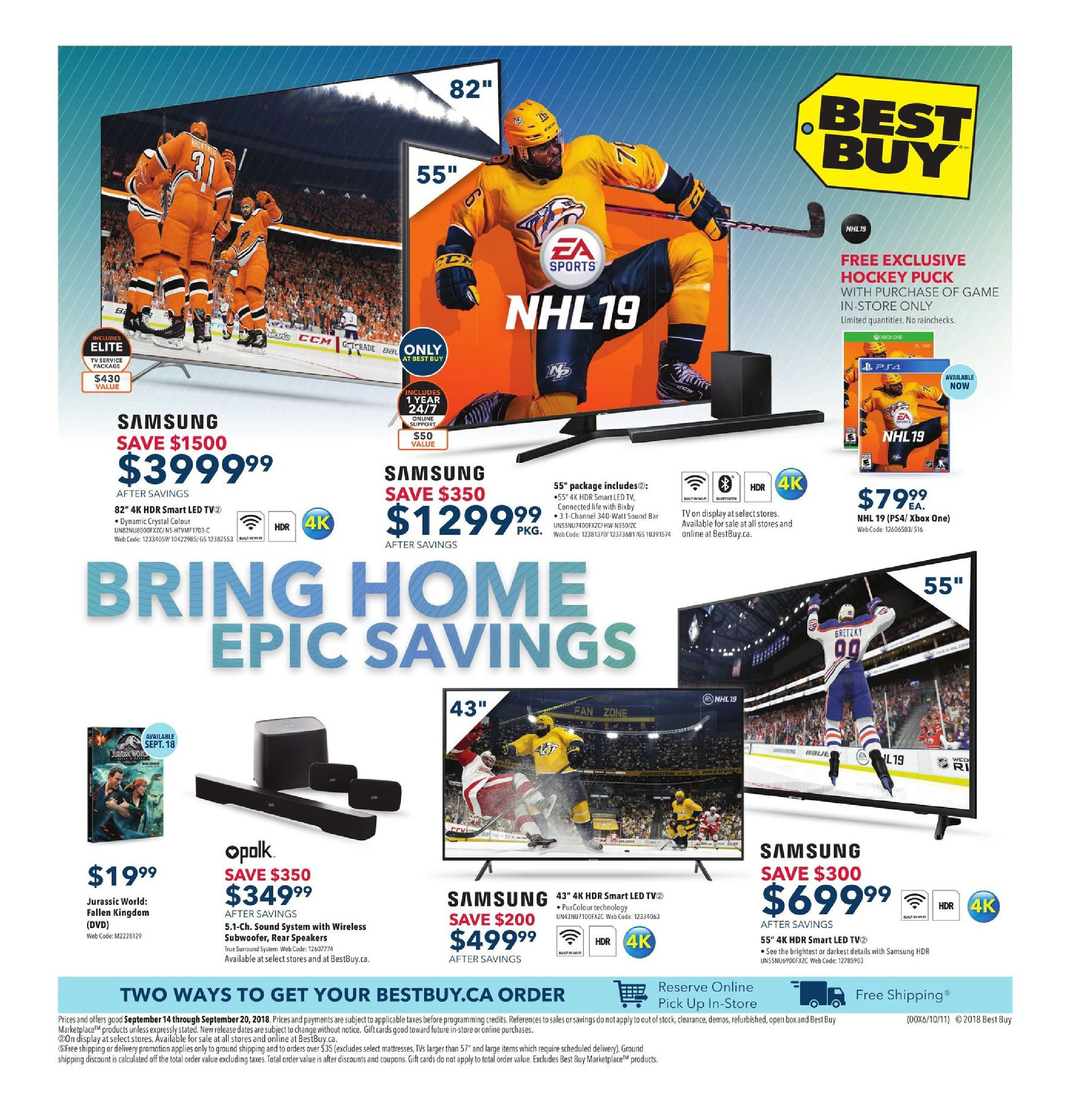 4a85690698 Best Buy Weekly Flyer - Weekly - Bring Home Epic Savings - Sep 14 – 20 -  RedFlagDeals.com