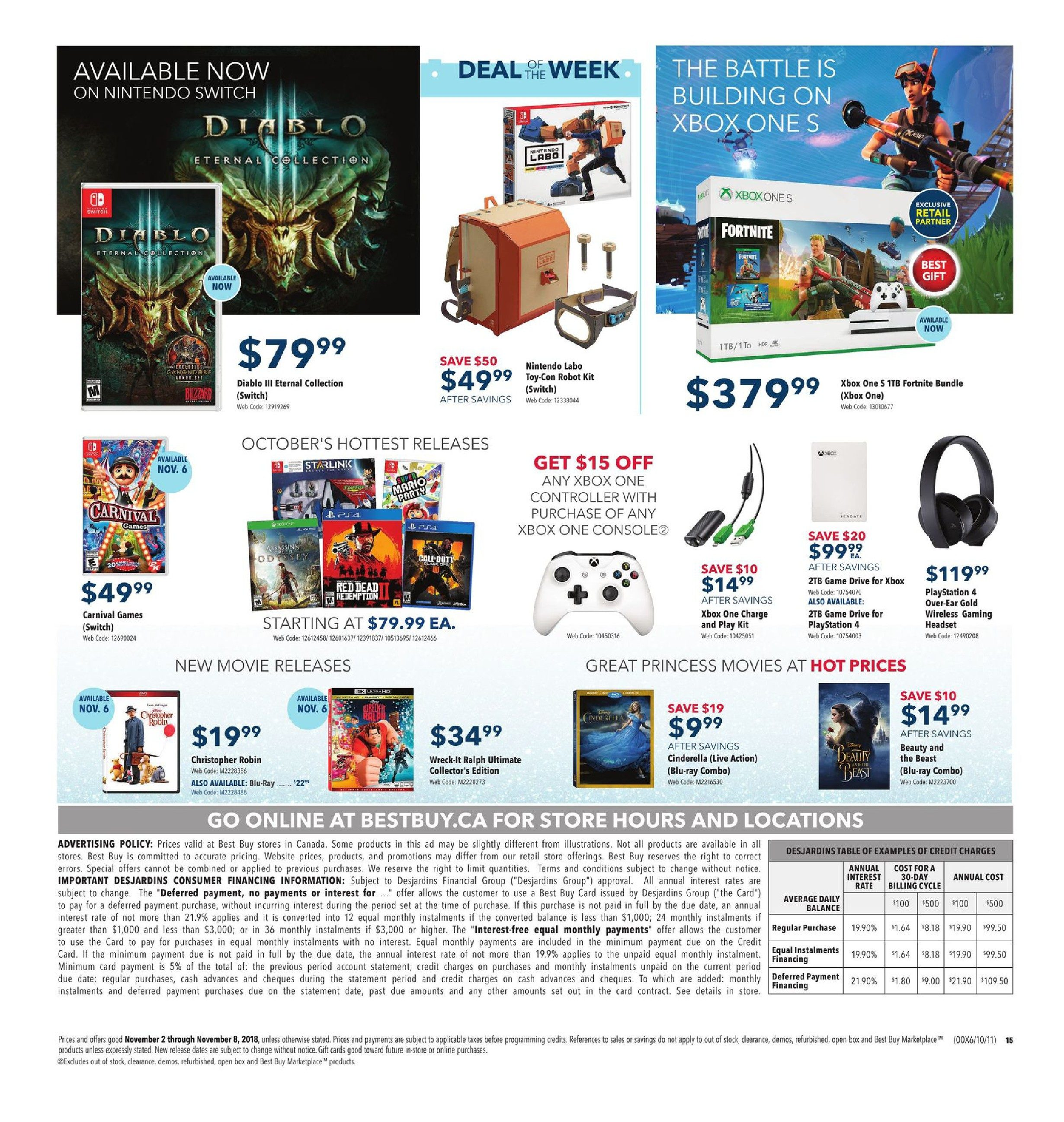 8e373b90f40213 Best Buy Weekly Flyer - Weekly - Brilliant Savings Make Holiday Magic - Nov  2 – 8 - RedFlagDeals.com