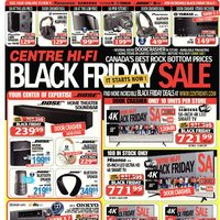 Centre HIFI - Weekly - Black Friday Sale. It Starts Now! Flyer