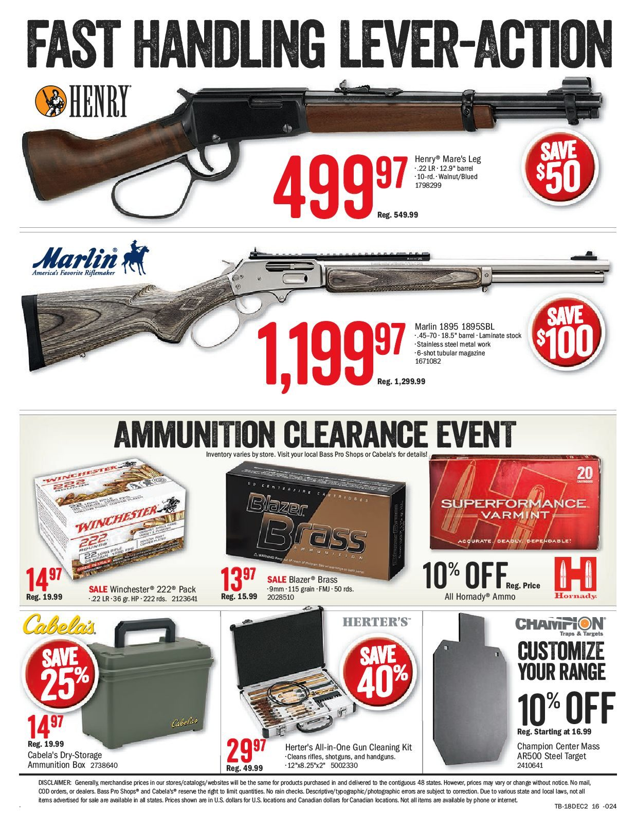 Bass Pro Shops Weekly Flyer - Ultimate Christmas Sale - Dec