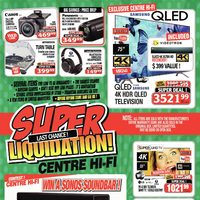 Centre HIFI - Last Chance! - Super Liquidation! Flyer