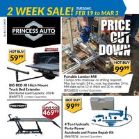 Princess Auto - 2 Week Sale! - Price Cut Down Flyer