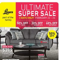 Leon's - Part of The Family - Ultimate Super Sale Flyer