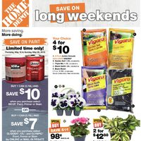 Home Depot - Weekly - Save on Long Weekends Flyer