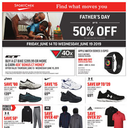 Sport Chek - Father's Day Sale - Find What Moves You Flyer
