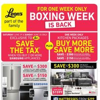 Leon's - Part of The Family - Boxing Week Is Back Flyer