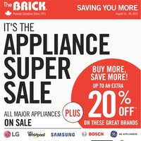 The Brick - Appliance Super Sale Flyer