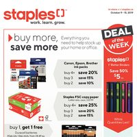 Staples - Weekly - Buy More, Save More Flyer