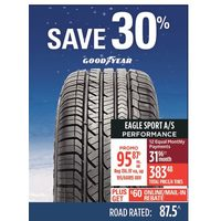 Good Year Eagle Sport A/S Performance Tire