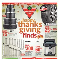Canadian Tire - Weekly - Happy Thanksgiving Finds Flyer