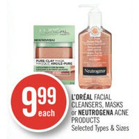 L'oreal Facial Cleansers, Masks Or Neutrogena Acne Products