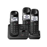 Panasonic 3 Handset Cordless Phone With Answering Machine