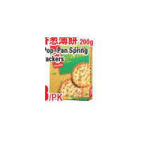 Garden Pop-Pan Spring Onion Crackers