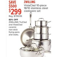 Zwilling VistaClad 18/10 Stainless Steel Cookware Set
