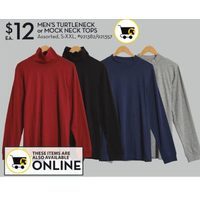 Men's Turtleneck Or Mock Neck Tops
