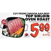 Top Sirloin Oven Roast