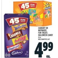 Cadbury Or Maynards Fun Treats Halloween Candy