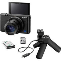 Sony Cyber-shot RX100 III 20.1MP 2.9x Optical Zoom Digital Camera with All-in-One Video Creator Kit