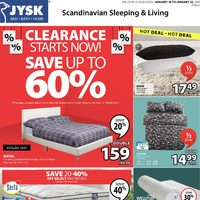 JYSK - Weekly - Clearance Starts Now! Flyer