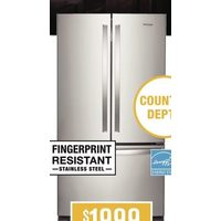 "Whirlpool 36"" Counter-Depth French-Door Refrigerator, 20 Cu. Ft."