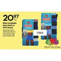 Fruit Of The Loom Men's Breathable Boxer Briefs Or Short Boxers