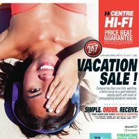 Centre HIFI - Weekly - Vacation Sale! Flyer